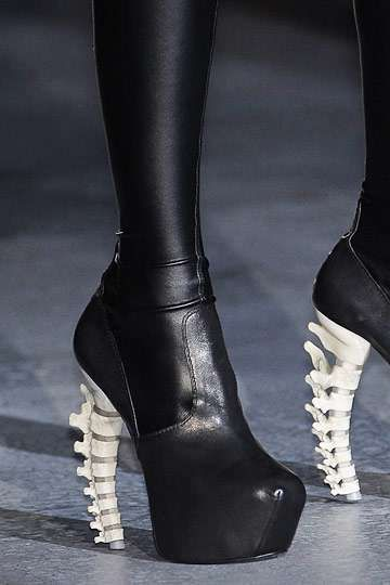 Spinal Stilettos - Skeletal Dsquared2 Fall 2010