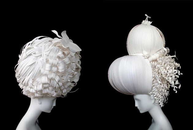Paper Wigs by Artists Nikki Salk and Amy Flurry